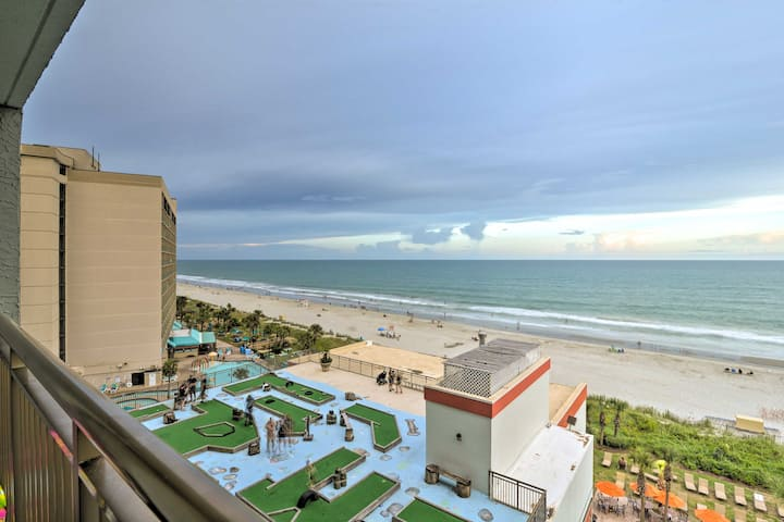 NEW! Resort-Style Condo with Oceanfront Balcony!