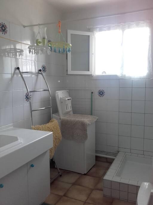 salle de bain privative aux voyageurs