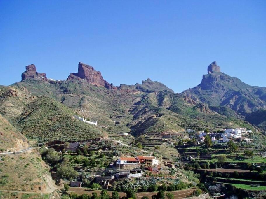 Vistas pueblo de La Solana (Tejeda)