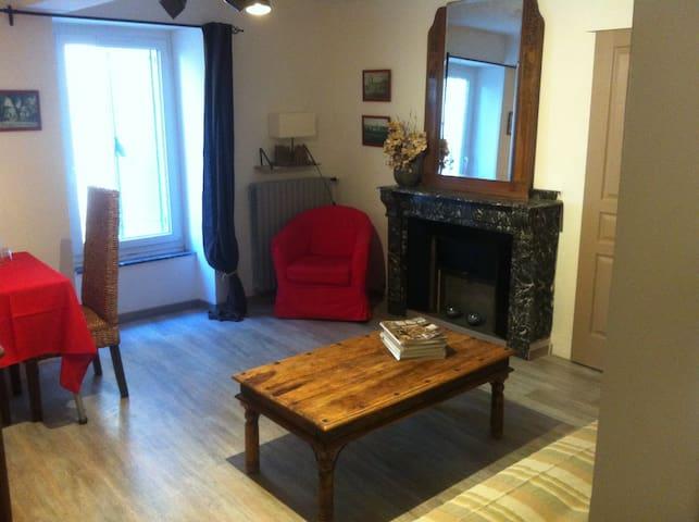 Salon avec clic clac  1 chambre sdb - Ventenac-Cabardès - Bed & Breakfast