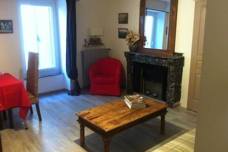 Salon avec clic clac  1 chambre sdb - Ventenac-Cabardès