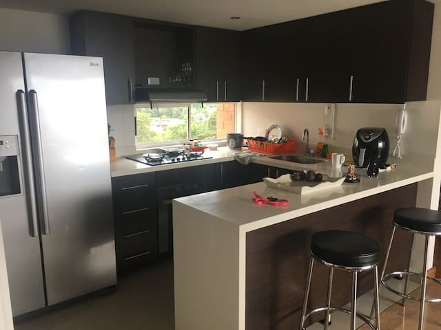 Kitchen with executive bar