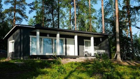 Villa Terveenniemi 100 on the lake/35 km  from LPR