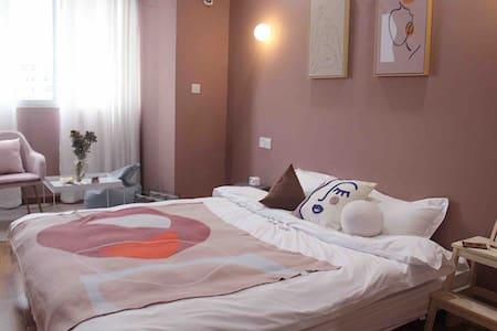 「 招呼·Room10」蜜桃 · MiNi时代 带投影仪的莫兰迪美学民宿