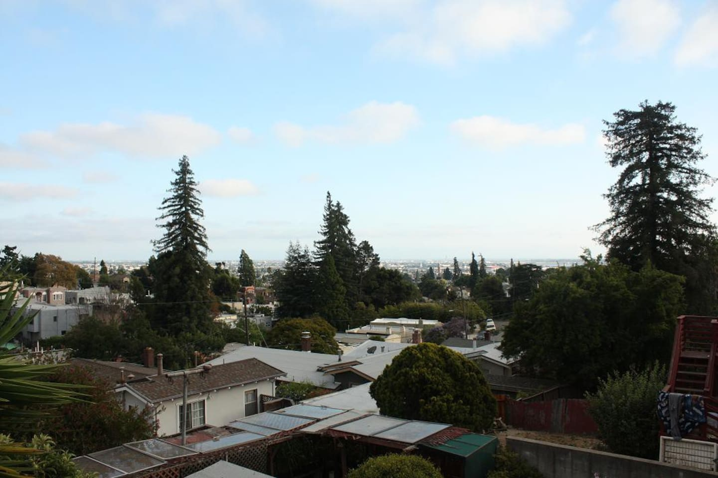 This is the view towards San Mateo (from the deck outside the kitchen)