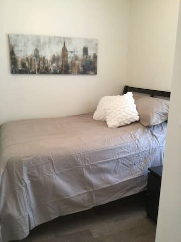 Main floor bedroom double bed