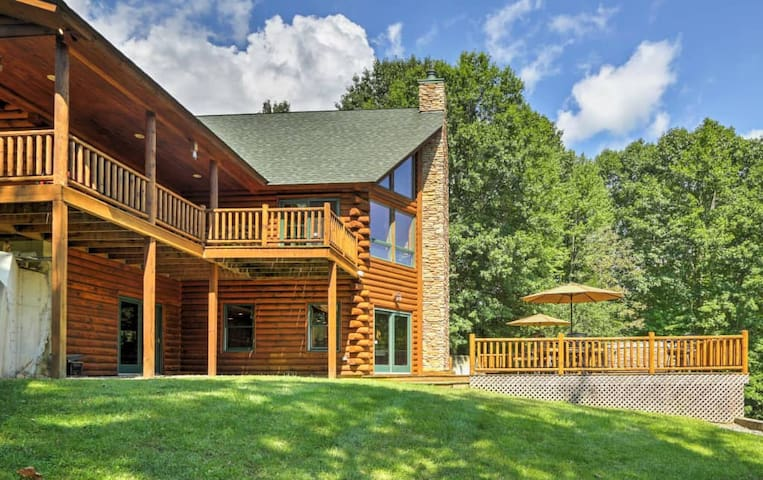 The property has no shortage of views from the wraparound decks.