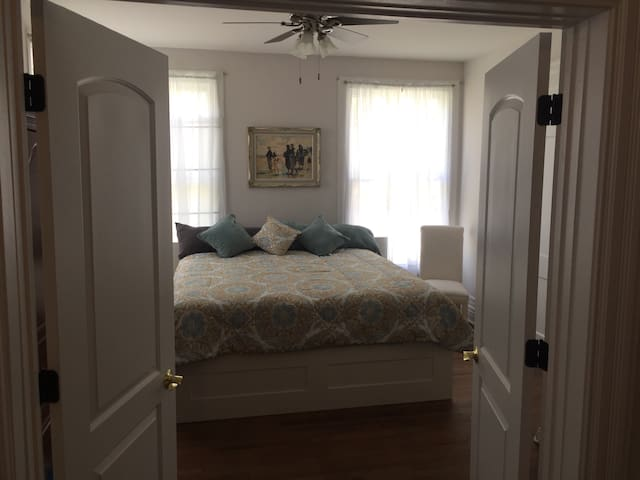Grand master bedroom with King Size Bed makes for a special stay!