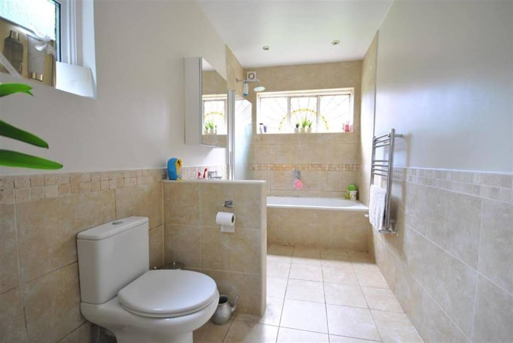 Large Bathroom with lots of light