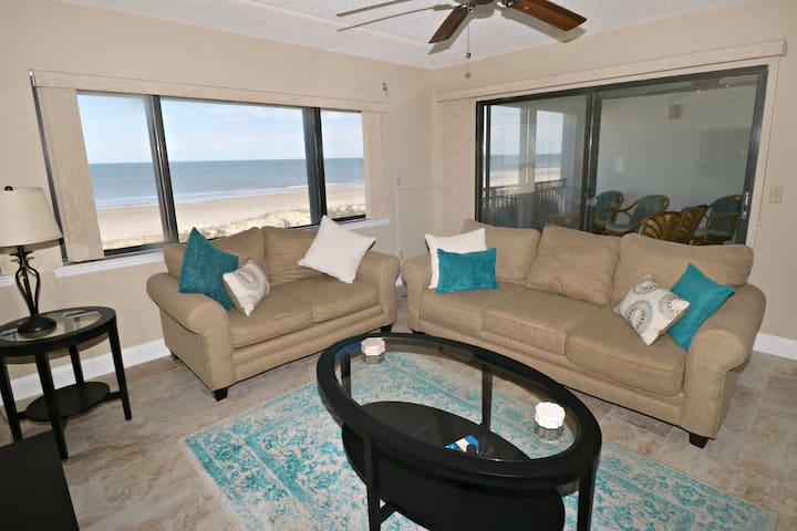 Spacious 3/2 Direct Oceanfront Condo with Amazing Ocean Views from the Second Floor!  Windjammer 216