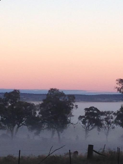 Morning Fog overlooking Molong