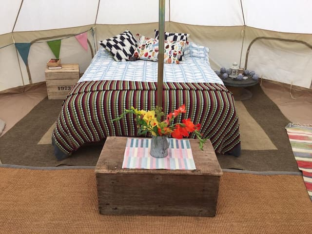 Bell Tent Glamping in the New Forest.
