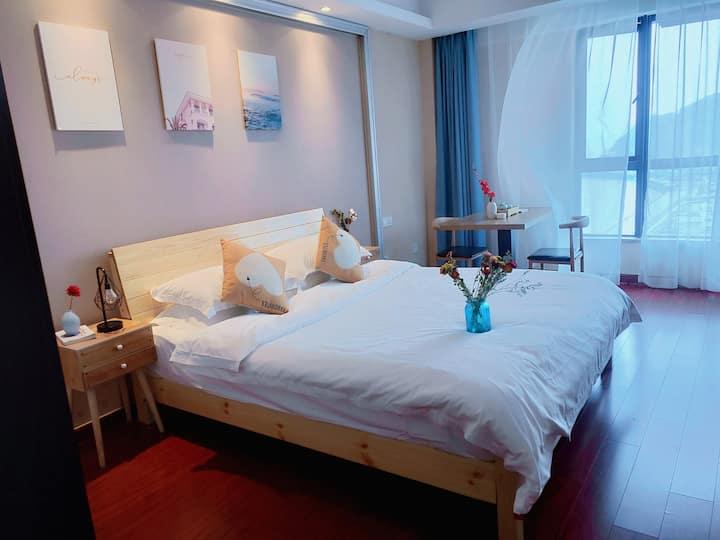 东港 特色海景标准大床房距离半升洞码头朱家尖
