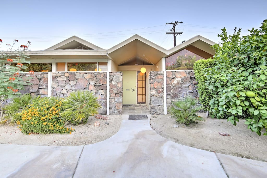 This 1,500-square-foot mid-century modern townhome features unique architecture and a pristine interior - showcased during Modernism Week for several years running!