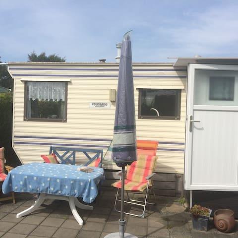 Voll ausgestatteter Wohncaravan am Nordseestrand - Renesse
