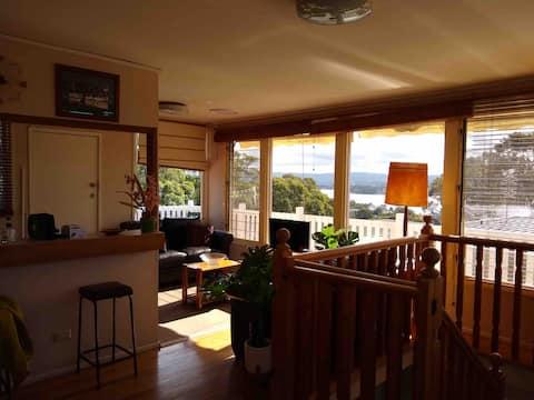Lovely  bush setting with views Lake Macquarie.