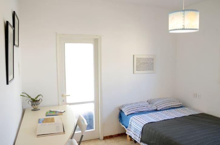 Quiet room in the artist's home near Tel Aviv