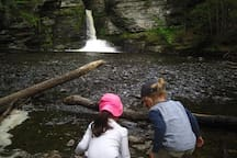 Visit the stunning waterfalls of Child's Park in the Delaware Water Gap National Recreation Area in nearby Dingman's Ferry, PA