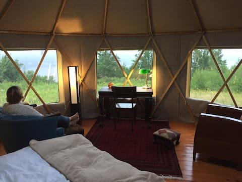 Safari Yurt at the Belleisle Bayview Retreat