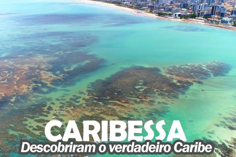 O flat fica a 350 metros da praia conhecida como caribessa, por sua semelhança com o Caribe, águas calmas e límpidas!! Considera a praia mais bela de Jampa!