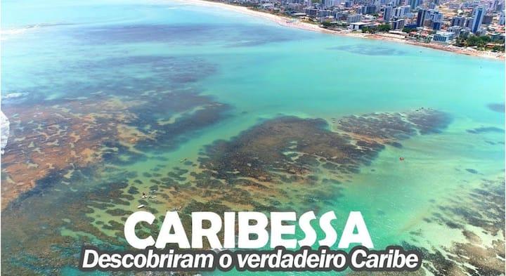 Flat à 350m do Caribessa a praia + bela de Jampa