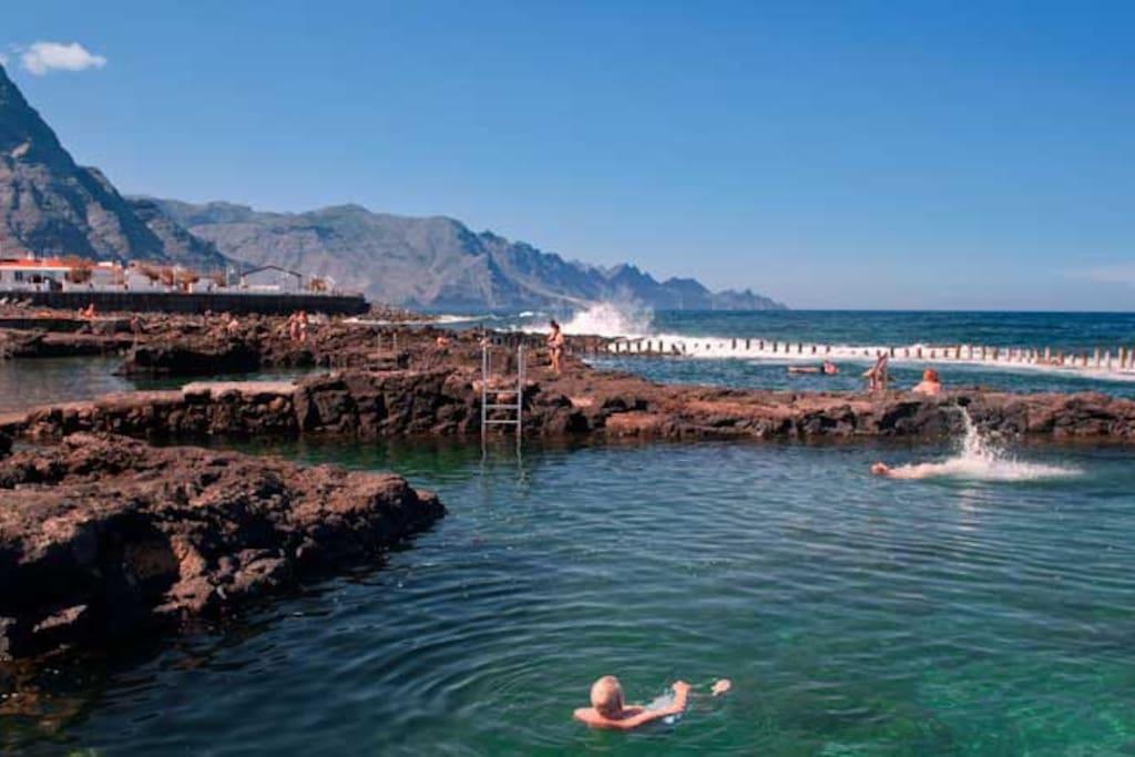 Mar y monta a en agaete chalets en alquiler en el turman - Villas en gran canaria con piscina ...