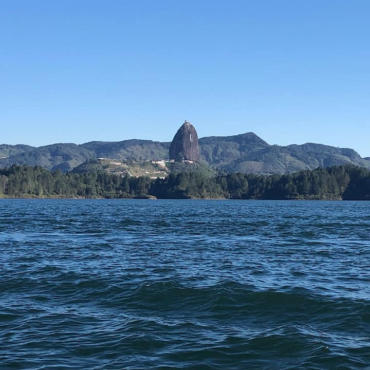A View of the Rock from the dam