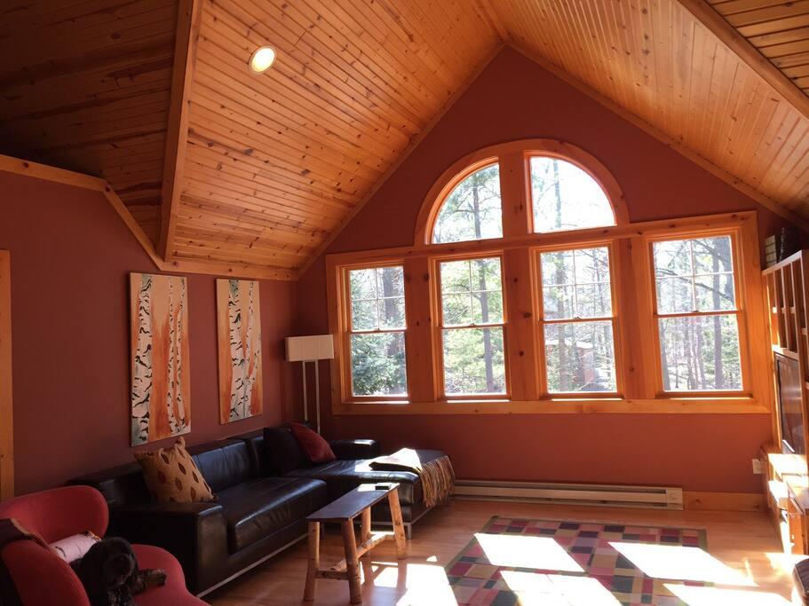 sun filled loft room