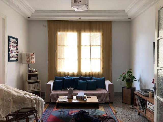 Private room in bright apartment downtown