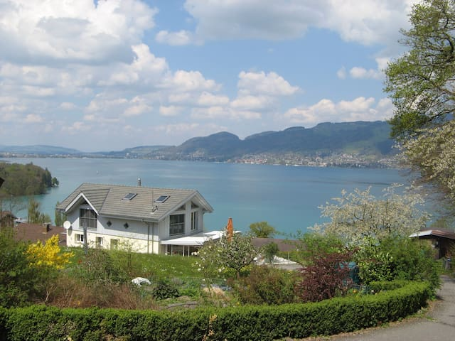 Apartment with grate views of lake and montain - Spiez - Departamento