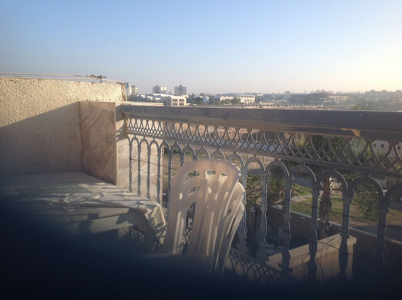 The summer time on the balcony is the best option to rest and to observe the surrounding