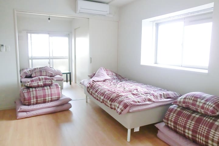 #41.Located between Fukuoka Airport and Hakata-sta - Hakata-ku, Fukuoka-shi - Mobilyalı daire