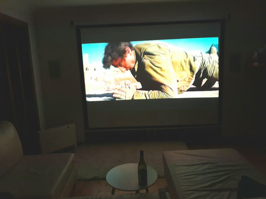 HD Projector home theatre system with 100w in wall speakers and no neighbours to complain