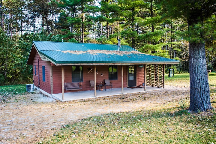 Kishauwau's Starved Rock Area Cabins - Dog Friendly (Commanche) Cabin sleeps either 3 adults or 2 adults/2 kids