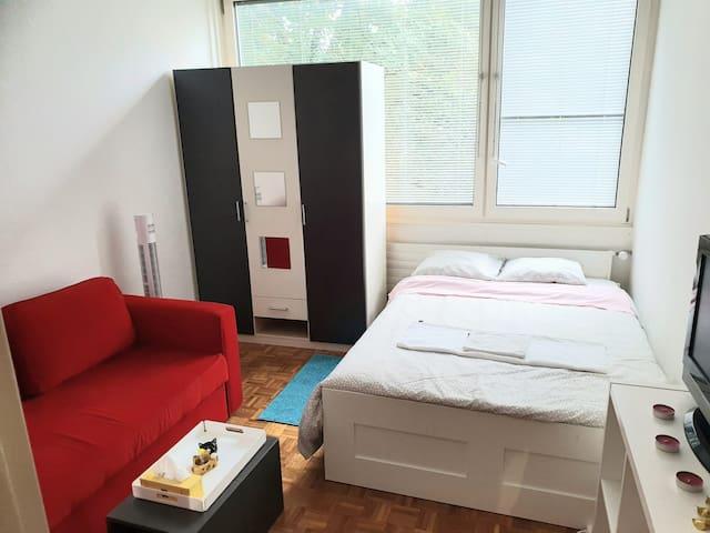 Habitacion confortable, amoblada, a compartir