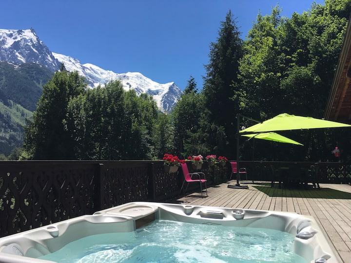 Luxury Chalet-Incredible Terrace-Jacuzzi & Sauna