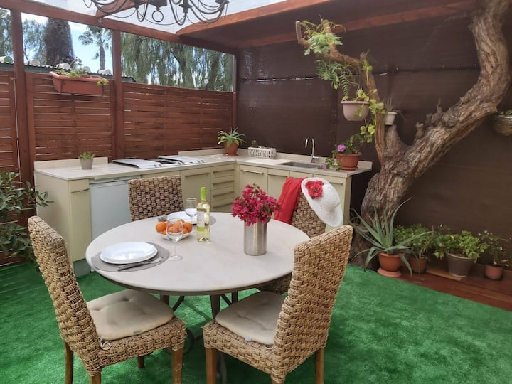 Mobile home, casa Amarilla, Camping Nauta