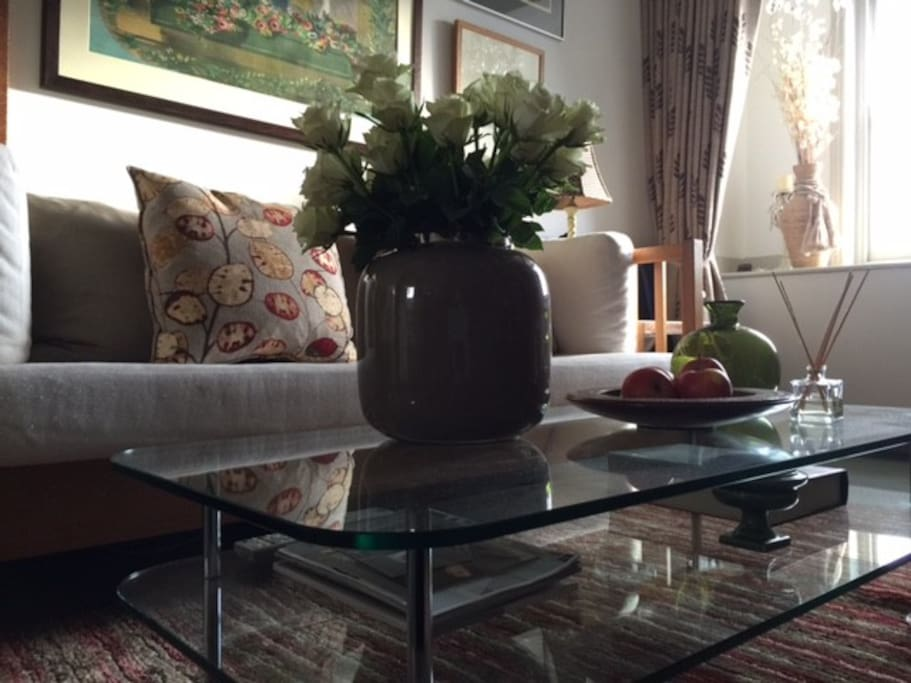 Sitting Room  - newly decorated and comfortably furnished with contemporary and antique furniture