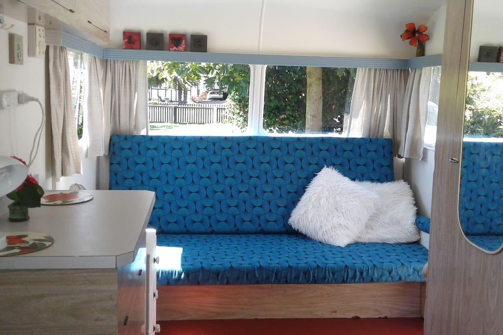 Funky retro caravan