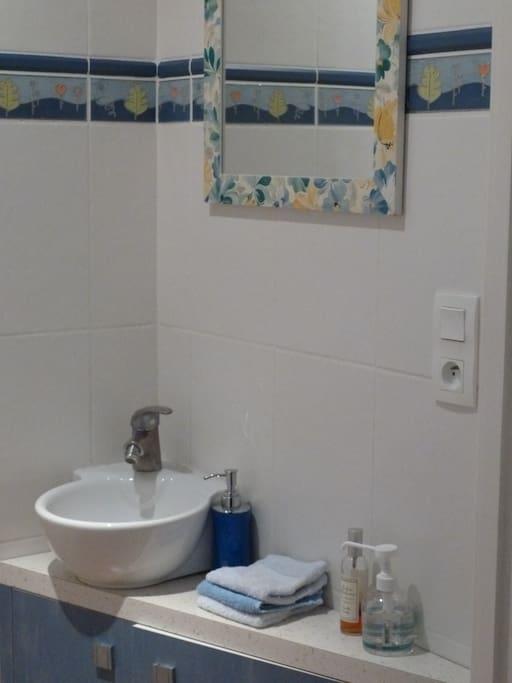 Cabinet de toilette avec WC privé
