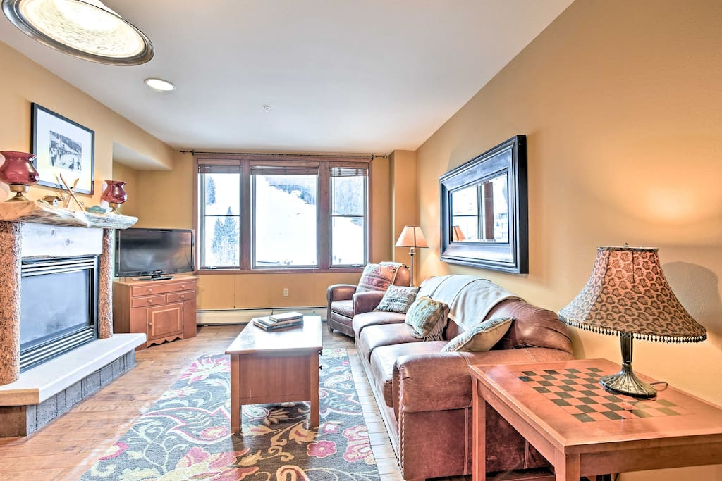 This charming condo boasts mountain views and accommodations for 4 guests.