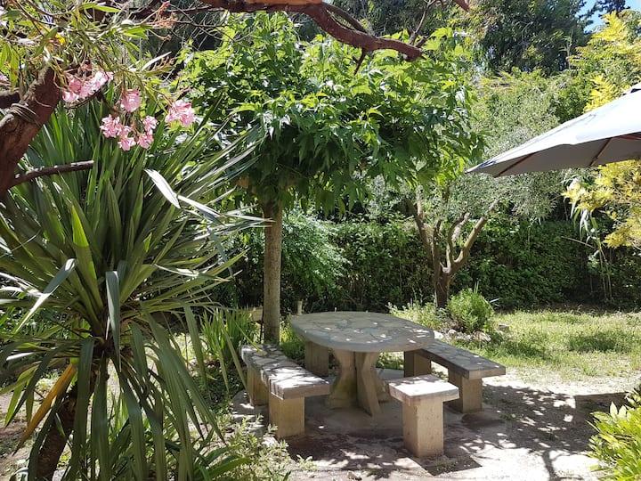 très joli studio proche des plages et avec jardin