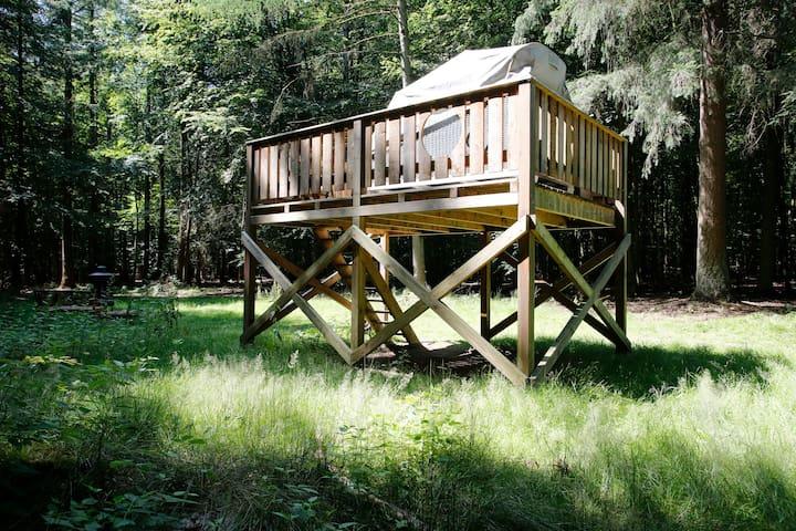 Der Waldkorb - eine Schlafkanzel im Sachsenwald