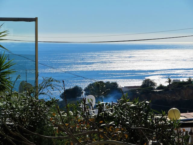 View from the terrace to the sea of Villa Mimosa House