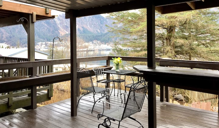 Studio & private deck w/ view of downtown Juneau