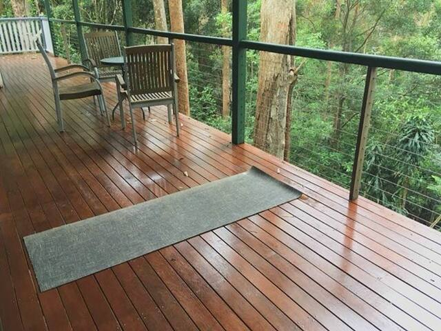 Large verandah deck.