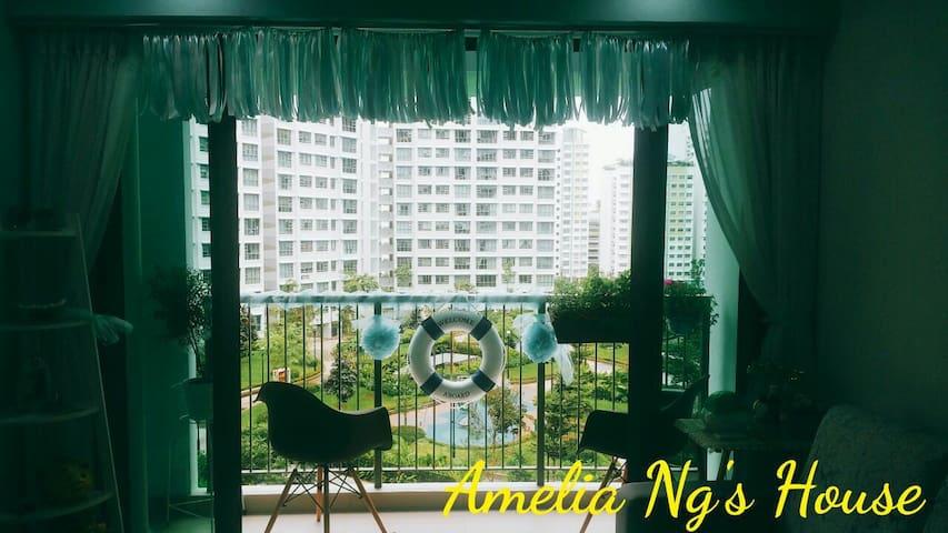 Cozy Room (2pax) w Garden View (Near MRT & Town) - Singapore - Apartment