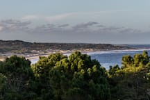 View from the terrace.  Playa Grande and Santa Teresa National Park.