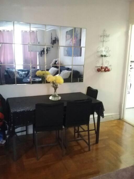 dinning table in livingroom