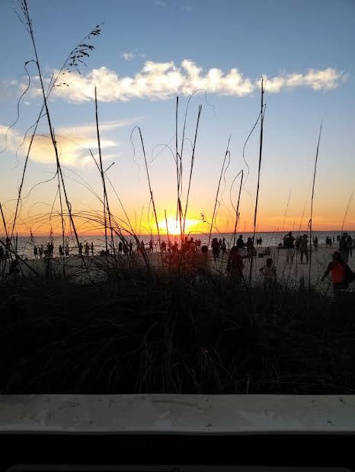 Fort Myers Beach at Sunset.